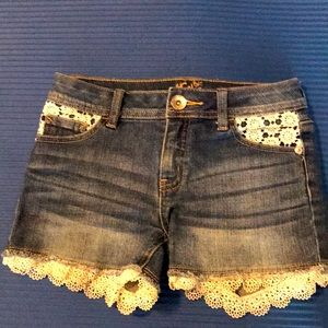 Lace Jean Justice shorts